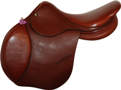 Second Hand Henry Brunelle Jump Saddle Brown 17 inch Medium width