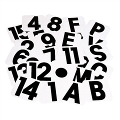 Stubbs England Stubbs Spare Stickers - Letters and Numbers