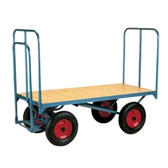 Stubbs England Stubbs Flat Platform Trolley - High Ended with Fixed Sides