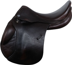 Second Hand Jaguar Jump Saddle Brown 17.5 inch Medium Wide