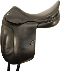 Second Hand Amerigo Dressage Saddle Black 18 inch Narrow