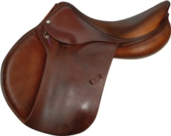 Second Hand Devoucoux Biarritz Close Contact Jump Saddle Brown 17 inch Medium