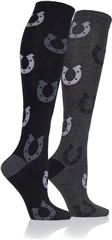 Storm Bloc Horse 2 Pairs of Junior Long Cushioned Socks