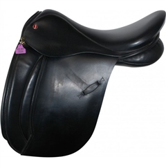 Second Hand Jeffries Working Hunter Saddle Black 18 inch Extra Wide width