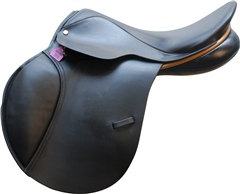 Second Hand Berney Bros Jump Saddle Black 17.5 inch Narrow