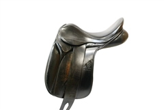 Second Hand Rickland Dressage Saddle Black 18inch Narrow/Medium