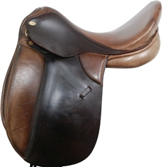 Second Hand Santa Cruz Dressage Saddle Black 18 inch Narrow Medium