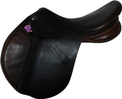 Second Hand Collegiate Convertible Jumping Saddle Brown 17.5 inch Narrow