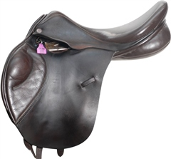 Second Hand Olney Saddlery Jump Saddle Brown 18 inch MW
