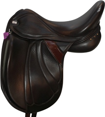 Second Hand Greenwich Olympian Dressage Saddle Brown 18 inch Medium Wide