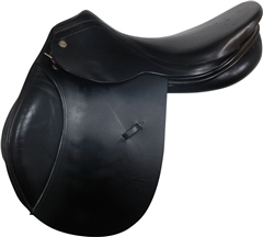 "Second Hand Harry Dabbs Jump Saddle Black 17.5"" M"