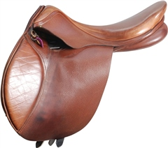 Second Hand Flex Rider Jump Saddle Tan 17.5 inches Medium Wide