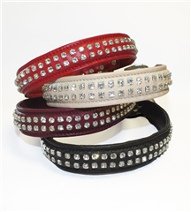 John Whitaker Dog Collar - 2 Rows of Diamonds