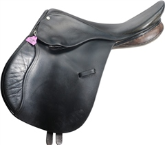 Second Hand Berney Bros GP Saddle Black 16 inch medium wide