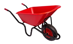 Faulks Red Gorilla 90ltr Puncture Proof Wheelbarrow