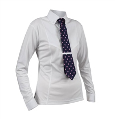 Shires Ladies Long Sleeve Tie Shirt