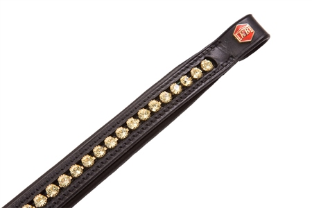 Albion Large Gold Crystal Browband  - Click to view a larger image