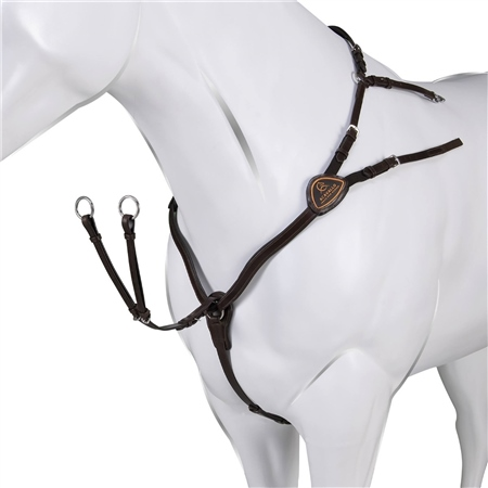Acavallo Leather 5 point Breastplate  - Click to view a larger image