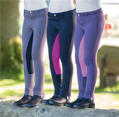 Bridleway Kids Pull On Jodhpurs  - Click to view a larger image