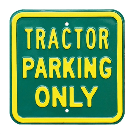 Charles Sainsbury Tractor Parking Sign  - Click to view a larger image