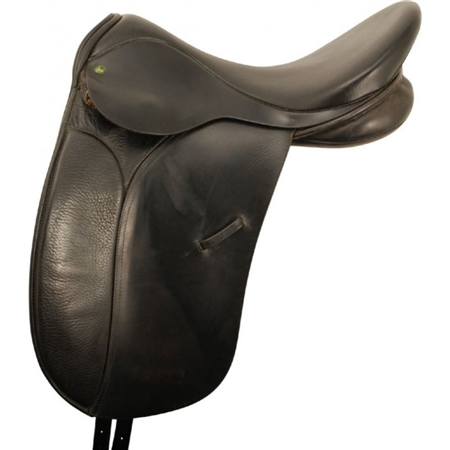 Second Hand Ideal Jessica Dressage Saddle Black 18inch Medium  - Click to view a larger image