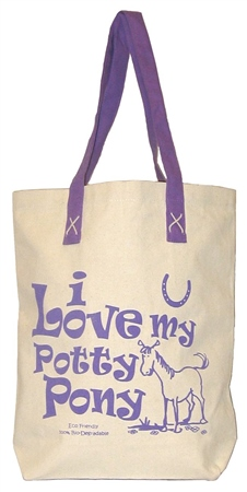Moorland Rider I Love My Potty Pony Bag  - Click to view a larger image