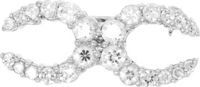 Falabella Double Crystal Horseshoe Stockpin  - Click to view a larger image