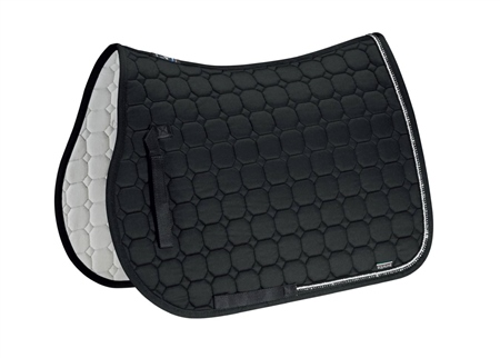 Equiline Rio Saddlecloth With Diamante Edge  - Click to view a larger image