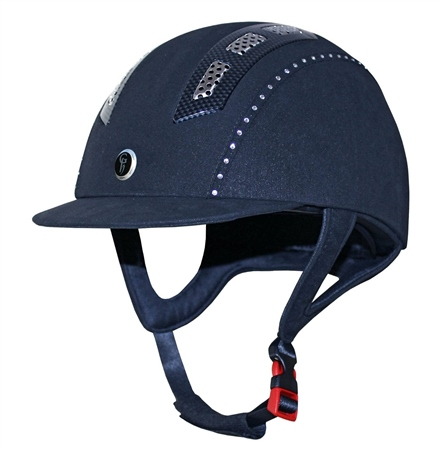 Gatehouse Chelsea Air Flow Pro Suedette Riding Hat With Crystals  - Click to view a larger image