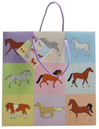 Grays Gifts Pastel Horse Gift Bag  - Click to view a larger image