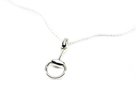 Hiho Sterling Silver Snaffle Pendant  - Click to view a larger image
