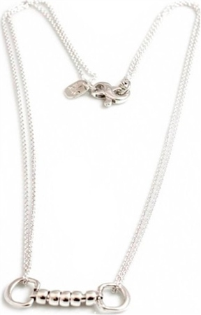 Hiho Exclusive Sterling Silver Cherry Roller Snaffle Necklace  - Click to view a larger image