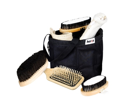 Horze Wooden Grooming Set  - Click to view a larger image