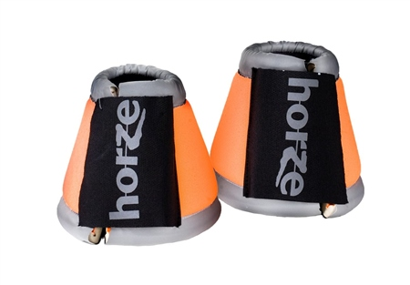 Horze Reflective Bell Boots  - Click to view a larger image