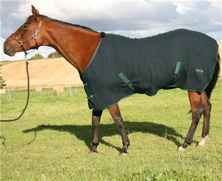 IV Horse Honeycomb Cooler Rug  - Click to view a larger image