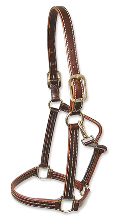 Walsh British Halter with Throat Snap and White Stitching  - Click to view a larger image