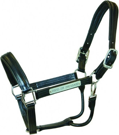 Walsh Dressage Leather Headcollar with Stainless Steel Fittings  - Click to view a larger image