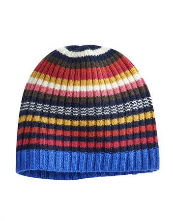Joules Bawdy Striped Knit Hat  - Click to view a larger image