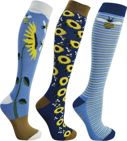 Hy Horse Wear HyFashion Sunflower Socks  - Click to view a larger image