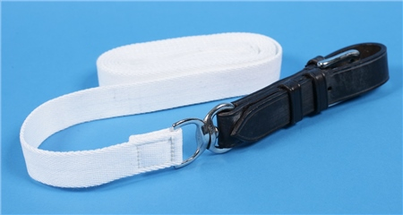 Old Mill Saddlery White Show Rein, Tubular  - Click to view a larger image