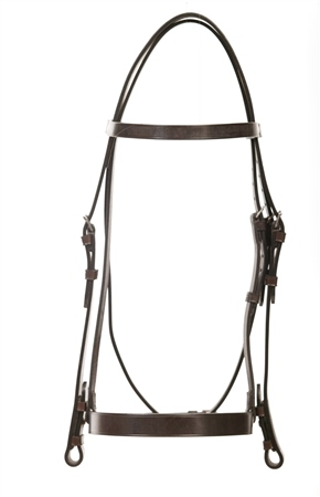 Old Mill Saddlery Old Mill Plain Cavesson Bridle 1 and 1/2 inch Noseband  - Click to view a larger image