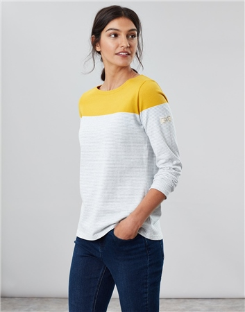 Joules Harbour 3/4 Sleeved Jersey Top  - Click to view a larger image