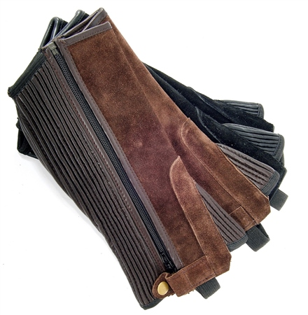 Old Mill Saddlery Adult Suede Half Chaps  - Click to view a larger image