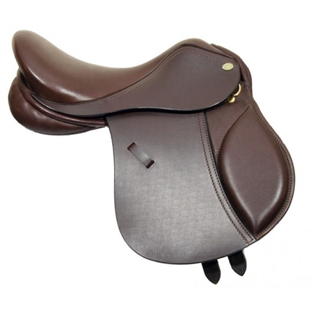 Old Mill Saddlery Old Mill Gracie Pony Saddle Leather Hide  - Click to view a larger image