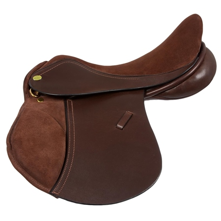 Old Mill Saddlery Old Mill Gracie Pony Saddle Suede Seat and Knee  - Click to view a larger image