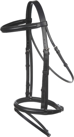 Old Mill Saddlery Flash Bridle with Rubber Reins  - Click to view a larger image
