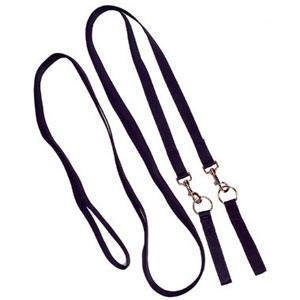 Old Mill Saddlery Leather Draw Reins  - Click to view a larger image