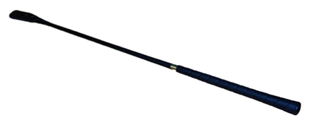 Old Mill Saddlery Riding Whip, Plastic Covered Stem Golf Handle  - Click to view a larger image