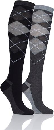 Platinum Taunton Junior Argyle Socks  - Click to view a larger image
