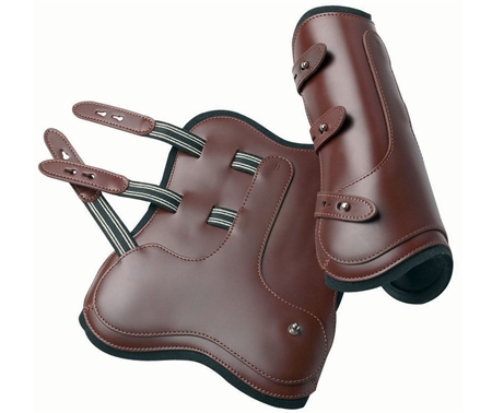 Prestige Italia Prestige Open Fronted Leather Jumping Boots  - Click to view a larger image